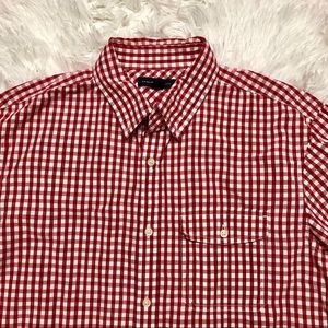 Banana Republic size large gingham men's shirt